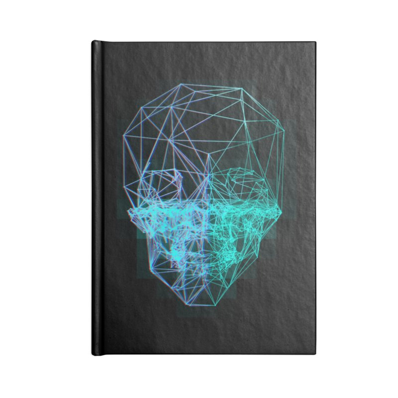 Death in 3D Accessories Lined Journal Notebook by nvil's Artist Shop