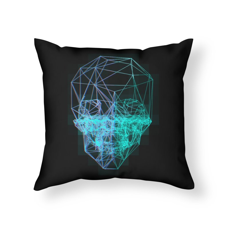 Death in 3D Home Throw Pillow by nvil's Artist Shop