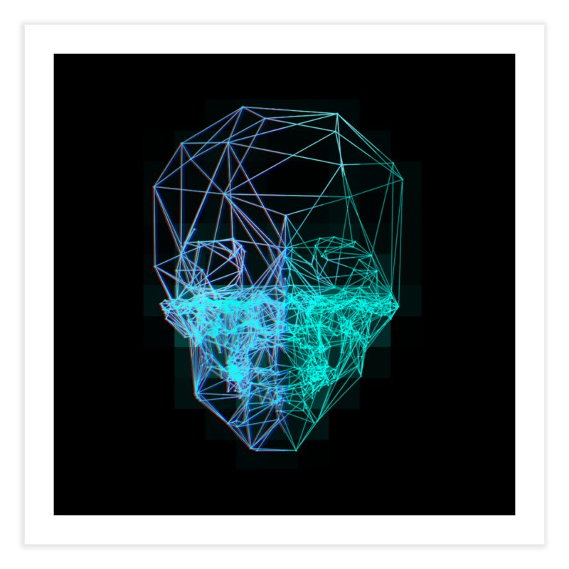 Death in 3D Home Fine Art Print by nvil's Artist Shop