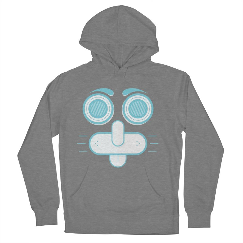 Dog Face Men's French Terry Pullover Hoody by nvil's Artist Shop