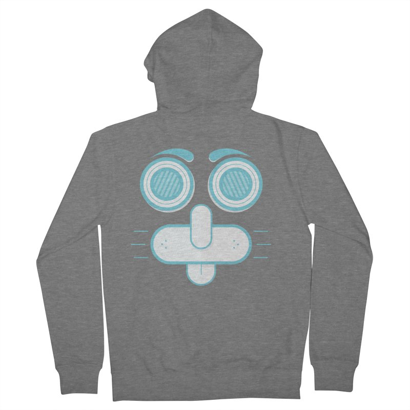 Dog Face Men's Zip-Up Hoody by nvil's Artist Shop