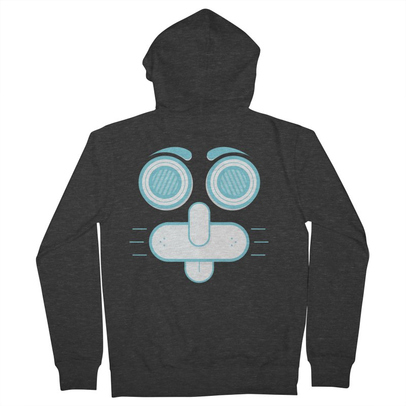Dog Face Men's French Terry Zip-Up Hoody by nvil's Artist Shop