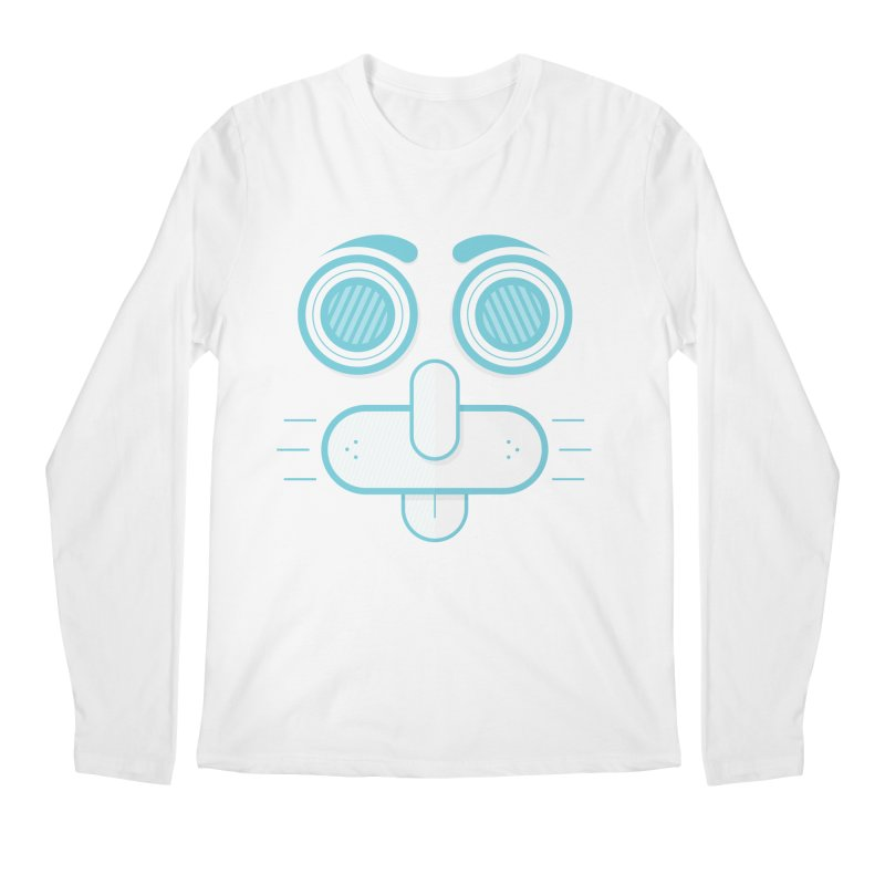 Dog Face Men's Regular Longsleeve T-Shirt by nvil's Artist Shop