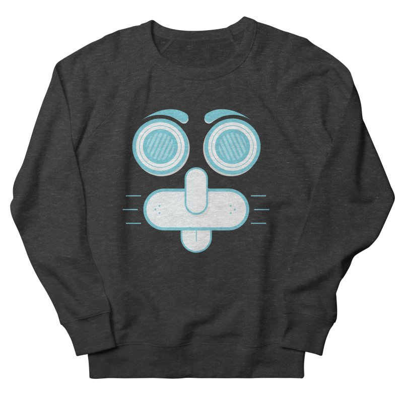 Dog Face Men's French Terry Sweatshirt by nvil's Artist Shop