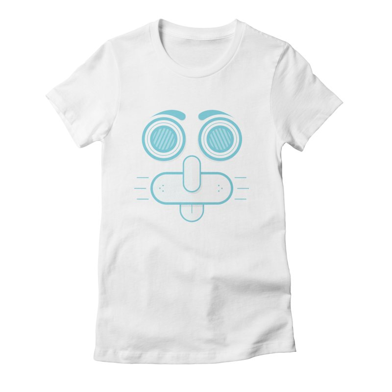 Dog Face Women's Fitted T-Shirt by nvil's Artist Shop