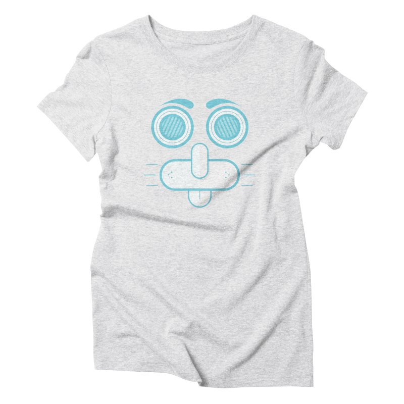 Dog Face Women's Triblend T-Shirt by nvil's Artist Shop