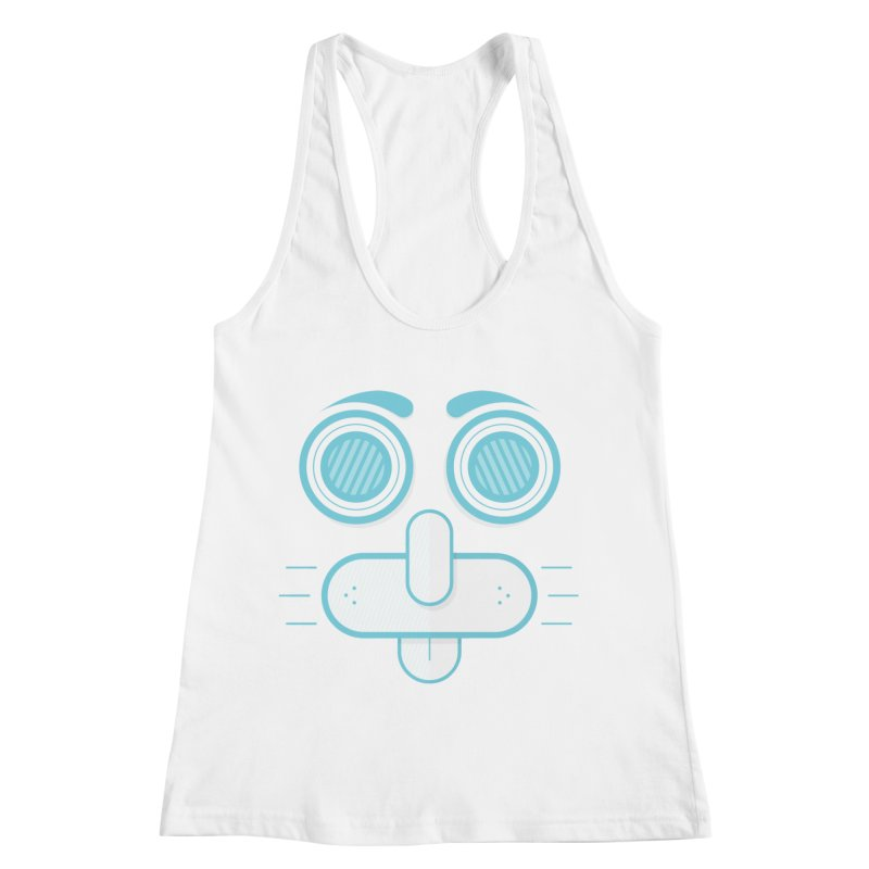 Dog Face Women's Racerback Tank by nvil's Artist Shop