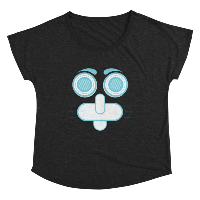 Dog Face Women's Scoop Neck by nvil's Artist Shop