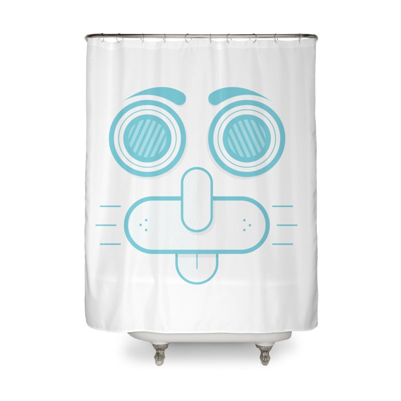 Dog Face Home Shower Curtain by nvil's Artist Shop