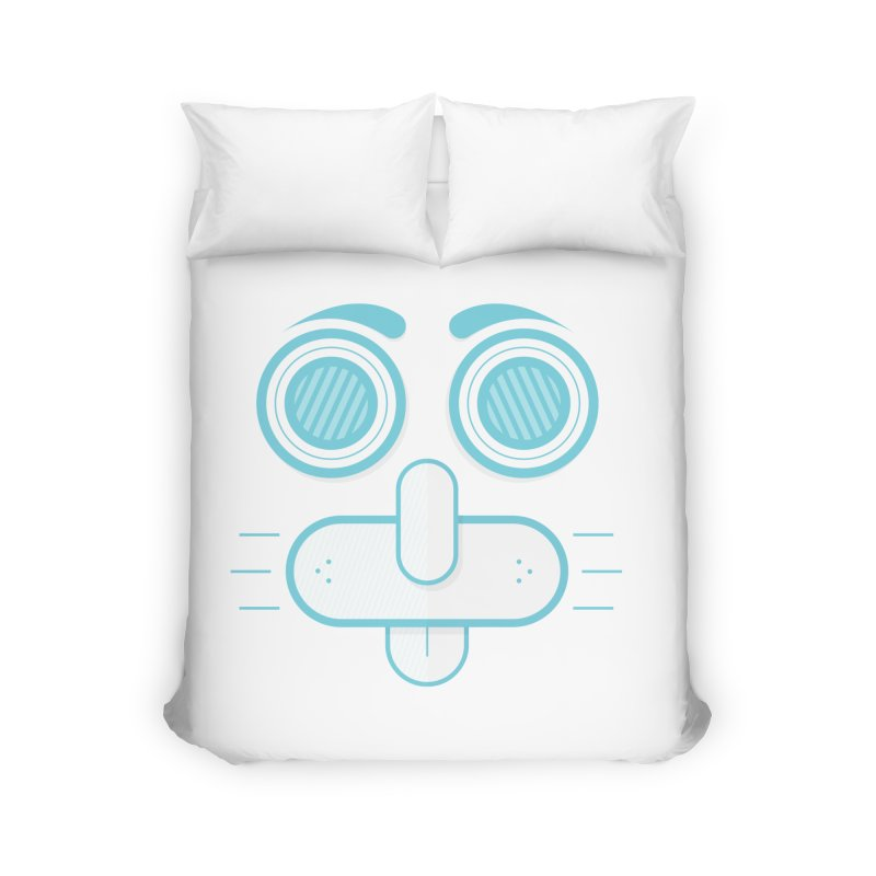 Dog Face Home Duvet by nvil's Artist Shop