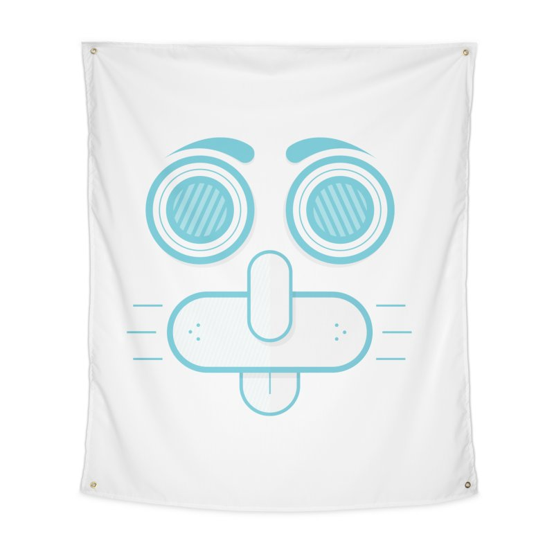 Dog Face Home Tapestry by nvil's Artist Shop