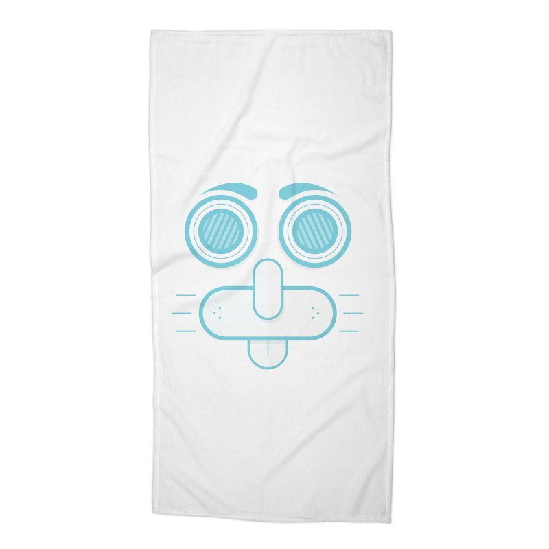 Dog Face Accessories Beach Towel by nvil's Artist Shop