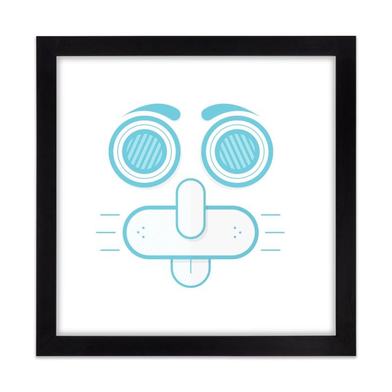 Dog Face Home Framed Fine Art Print by nvil's Artist Shop