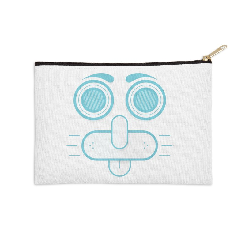 Dog Face Accessories Zip Pouch by nvil's Artist Shop