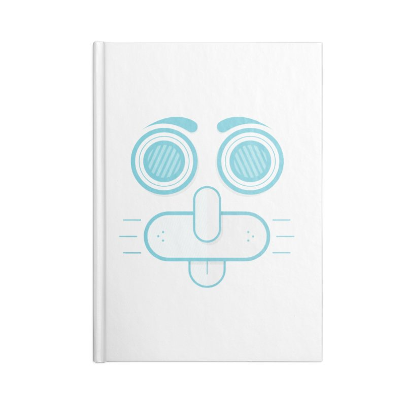 Dog Face Accessories Lined Journal Notebook by nvil's Artist Shop