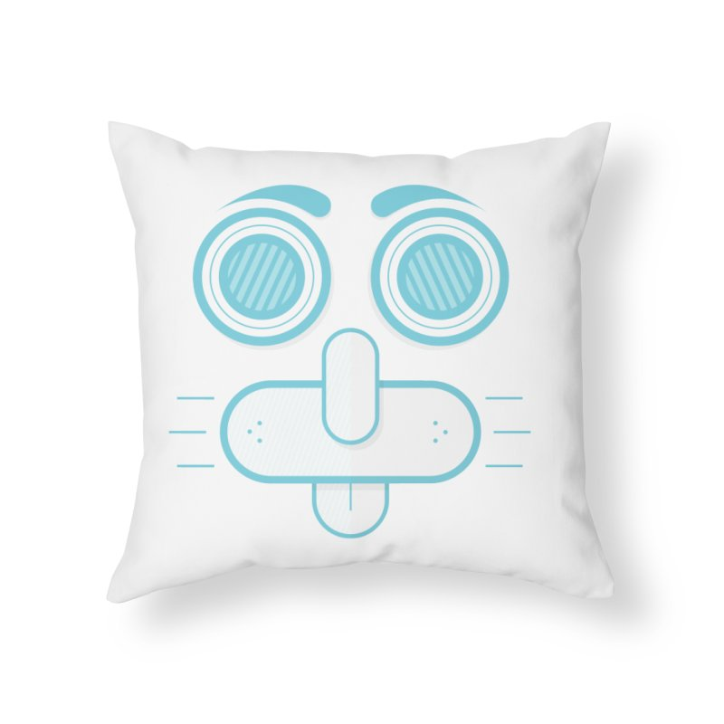 Dog Face Home Throw Pillow by nvil's Artist Shop