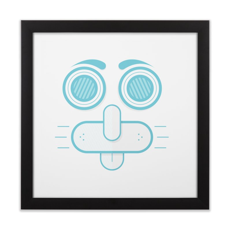 Dog Face Home Framed Fine Art Print by nvil's Artist Shop