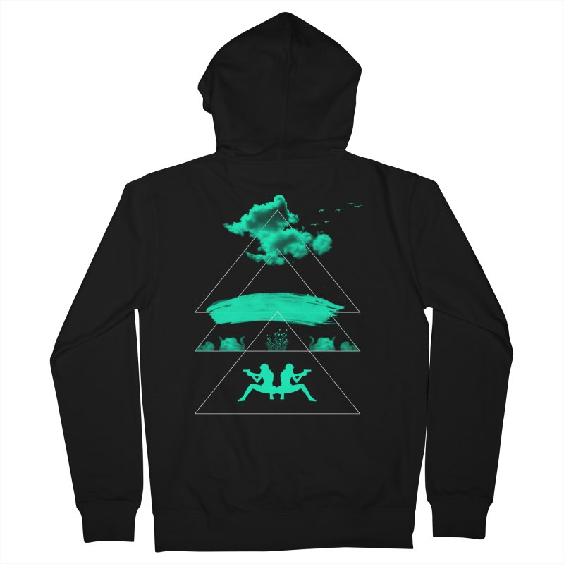Smoky Triangles Men's Zip-Up Hoody by nvil's Artist Shop