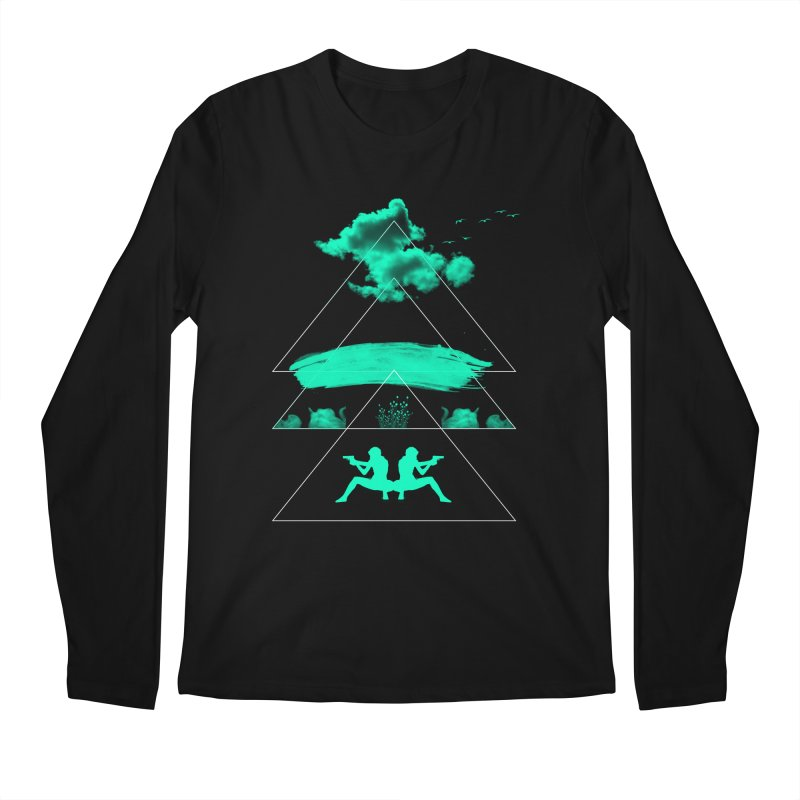 Smoky Triangles Men's Regular Longsleeve T-Shirt by nvil's Artist Shop