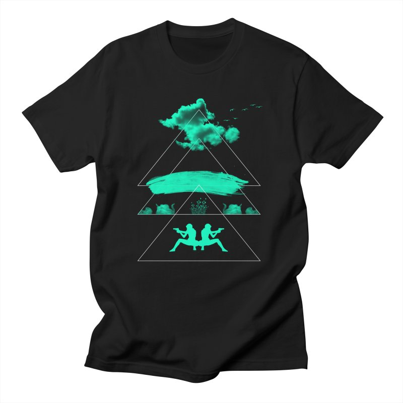 Smoky Triangles Men's Regular T-Shirt by nvil's Artist Shop