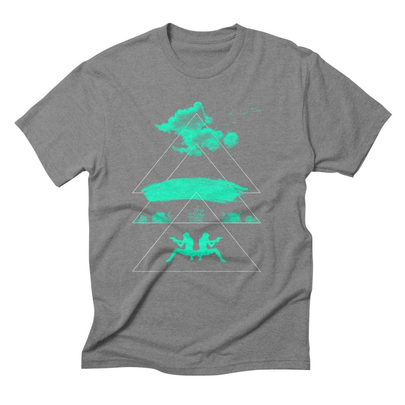 Smoky Triangles Men's Triblend T-Shirt by nvil's Artist Shop