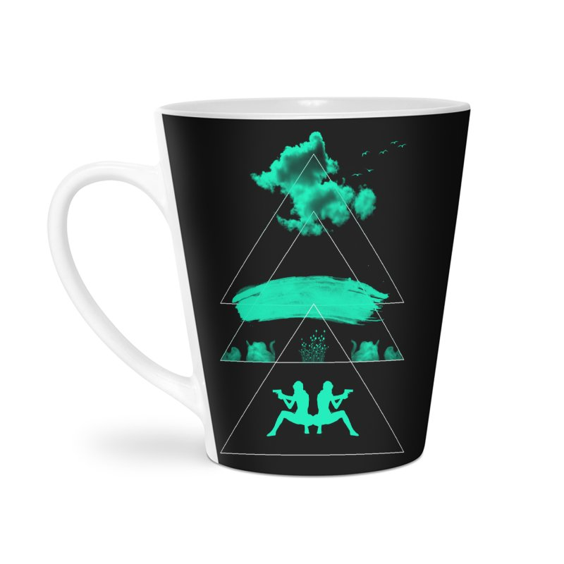 Smoky Triangles Accessories Latte Mug by nvil's Artist Shop