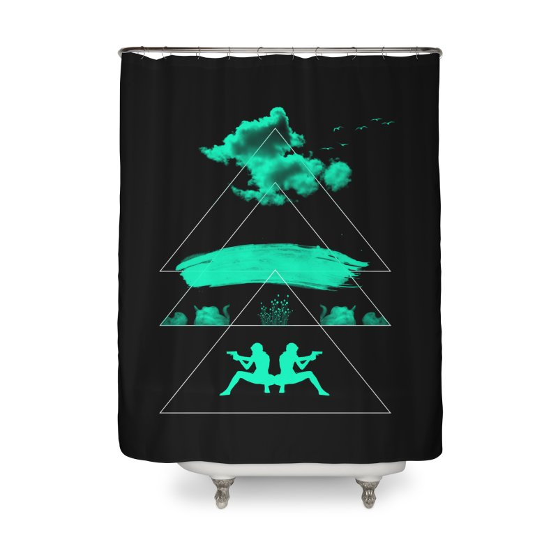 Smoky Triangles Home Shower Curtain by nvil's Artist Shop
