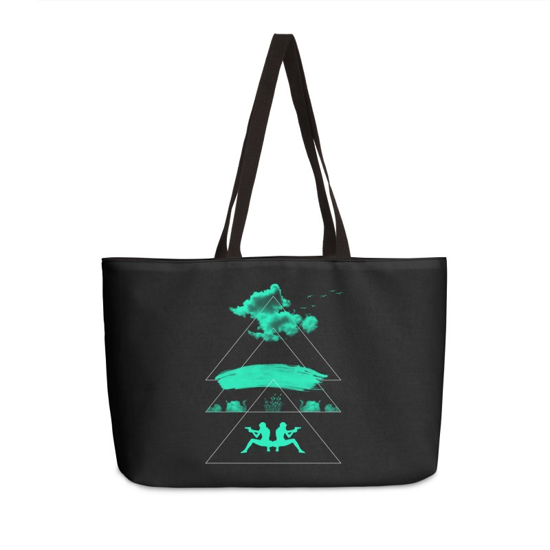 Smoky Triangles Accessories Weekender Bag Bag by nvil's Artist Shop