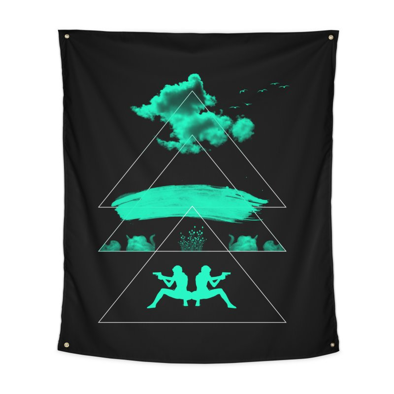 Smoky Triangles Home Tapestry by nvil's Artist Shop