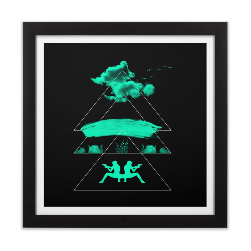 Smoky Triangles Home Framed Fine Art Print by nvil's Artist Shop