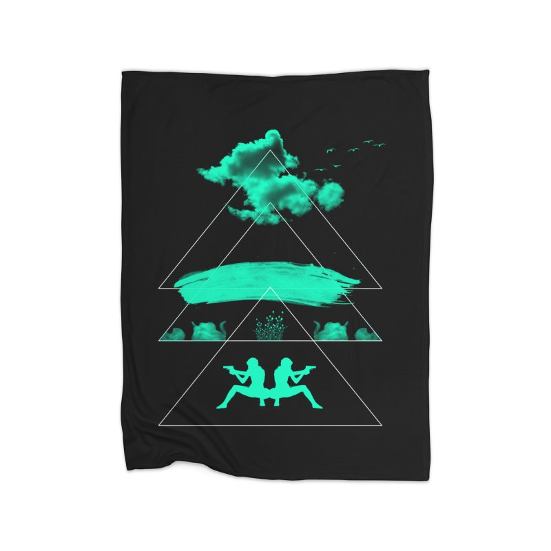 Smoky Triangles Home Blanket by nvil's Artist Shop