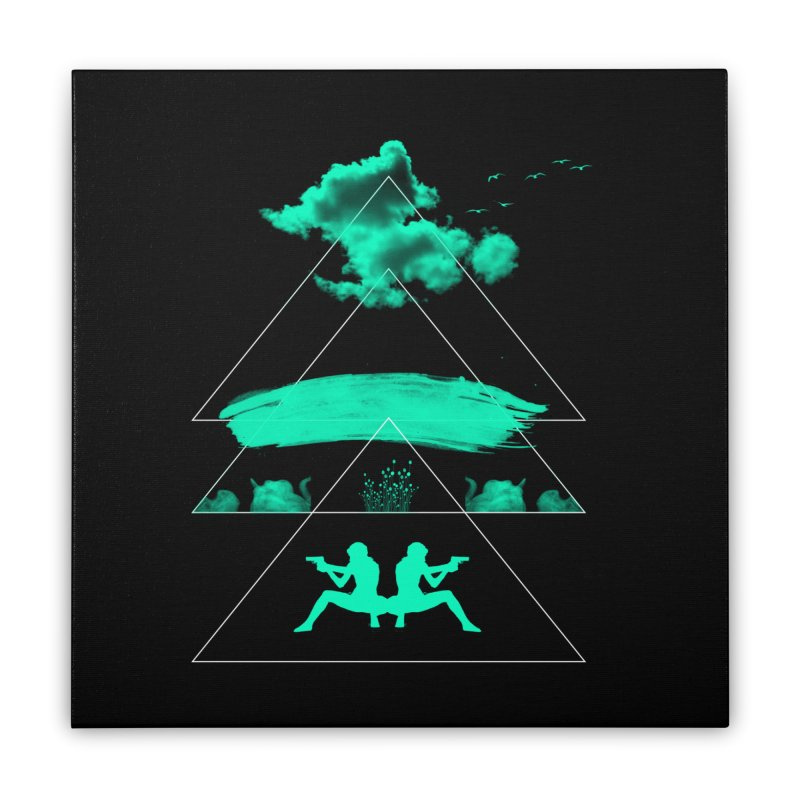 Smoky Triangles Home Stretched Canvas by nvil's Artist Shop