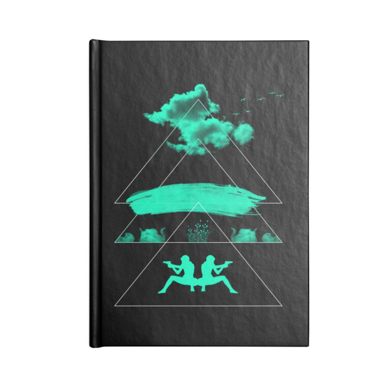 Smoky Triangles Accessories Lined Journal Notebook by nvil's Artist Shop