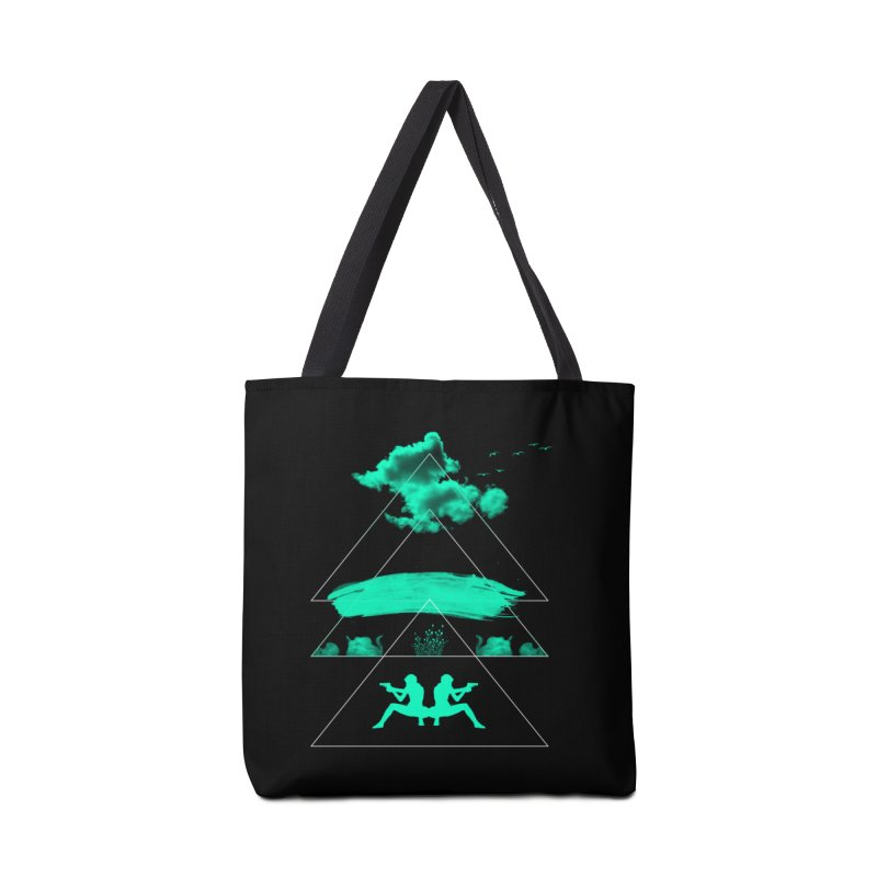 Smoky Triangles Accessories Bag by nvil's Artist Shop