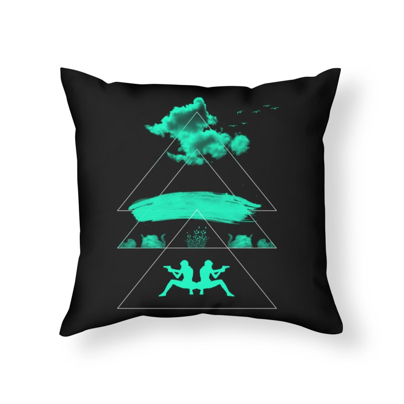 Smoky Triangles Home Throw Pillow by nvil's Artist Shop