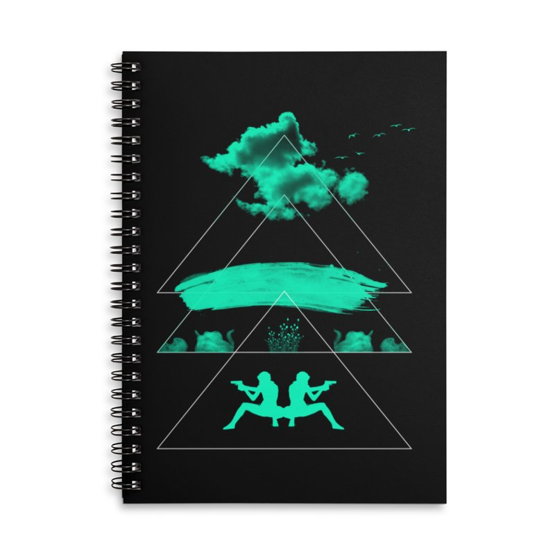 Smoky Triangles Accessories Notebook by nvil's Artist Shop