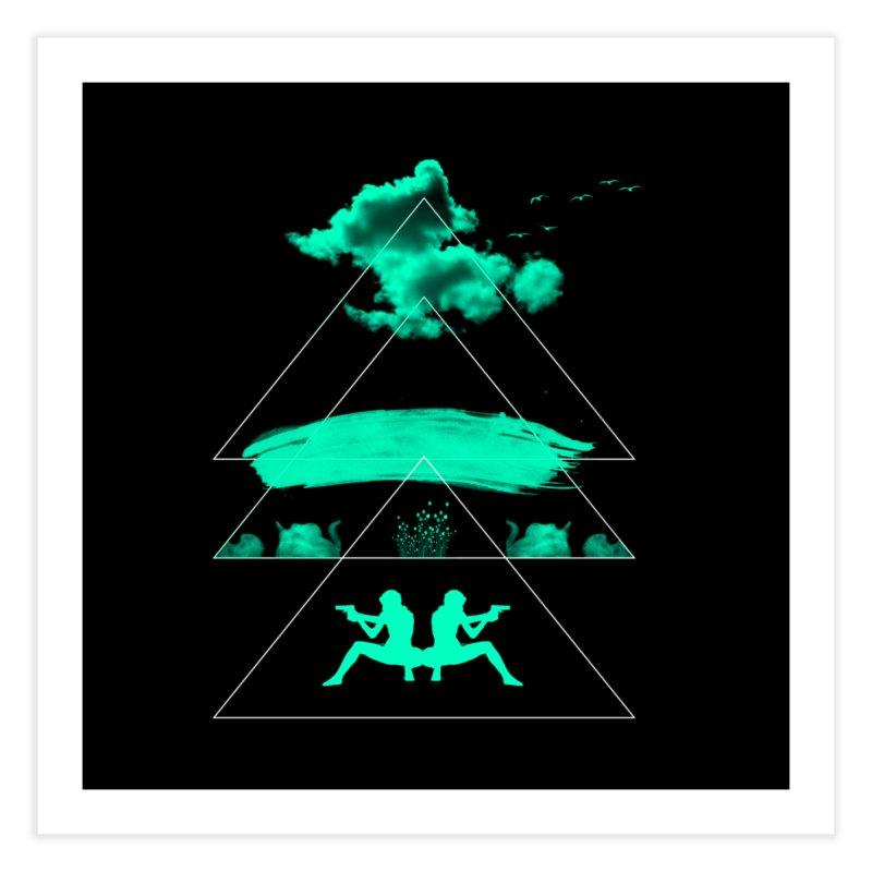 Smoky Triangles Home Fine Art Print by nvil's Artist Shop
