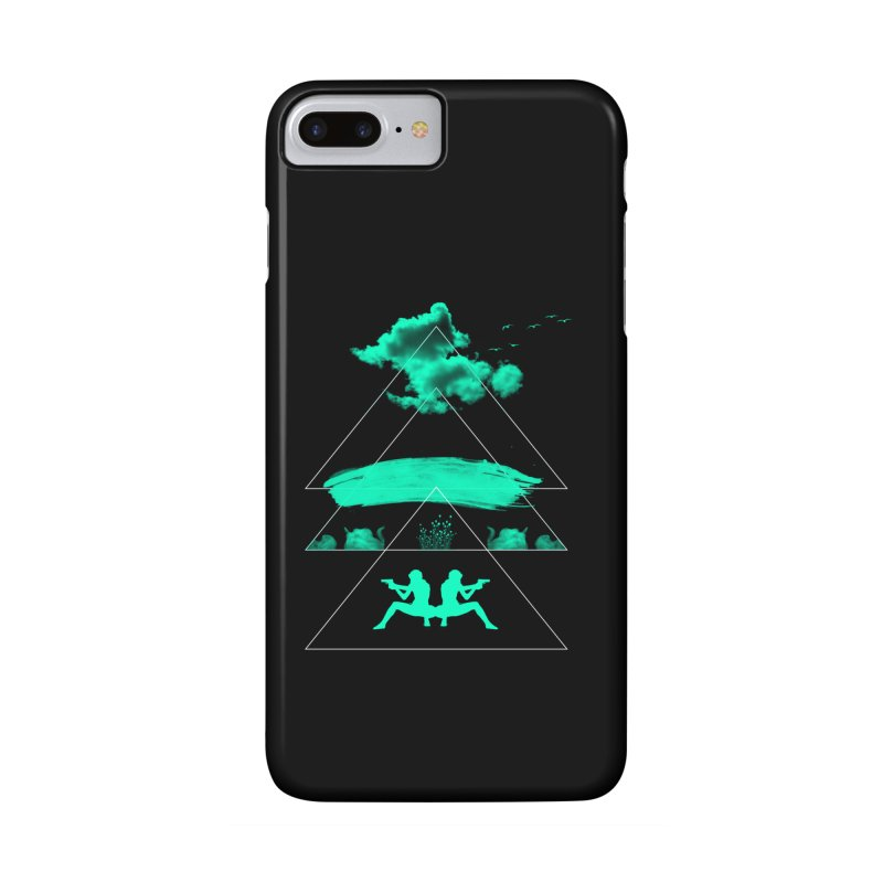Smoky Triangles Accessories Phone Case by nvil's Artist Shop