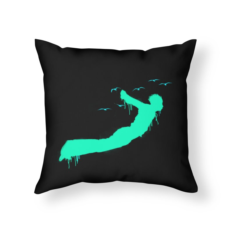 BE FREE Home Throw Pillow by nvil's Artist Shop