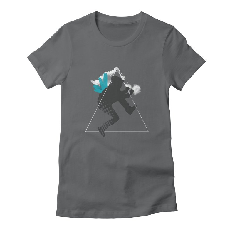 Free flying Women's Fitted T-Shirt by nvil's Artist Shop