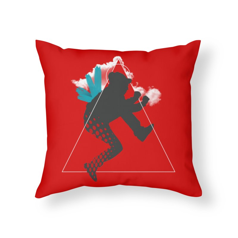 Free flying Home Throw Pillow by nvil's Artist Shop