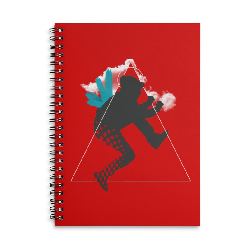 Free flying Accessories Lined Spiral Notebook by nvil's Artist Shop