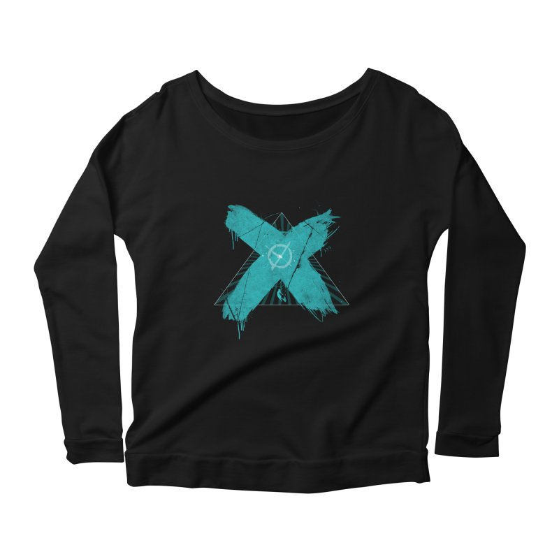 X marks the spot Women's Scoop Neck Longsleeve T-Shirt by nvil's Artist Shop