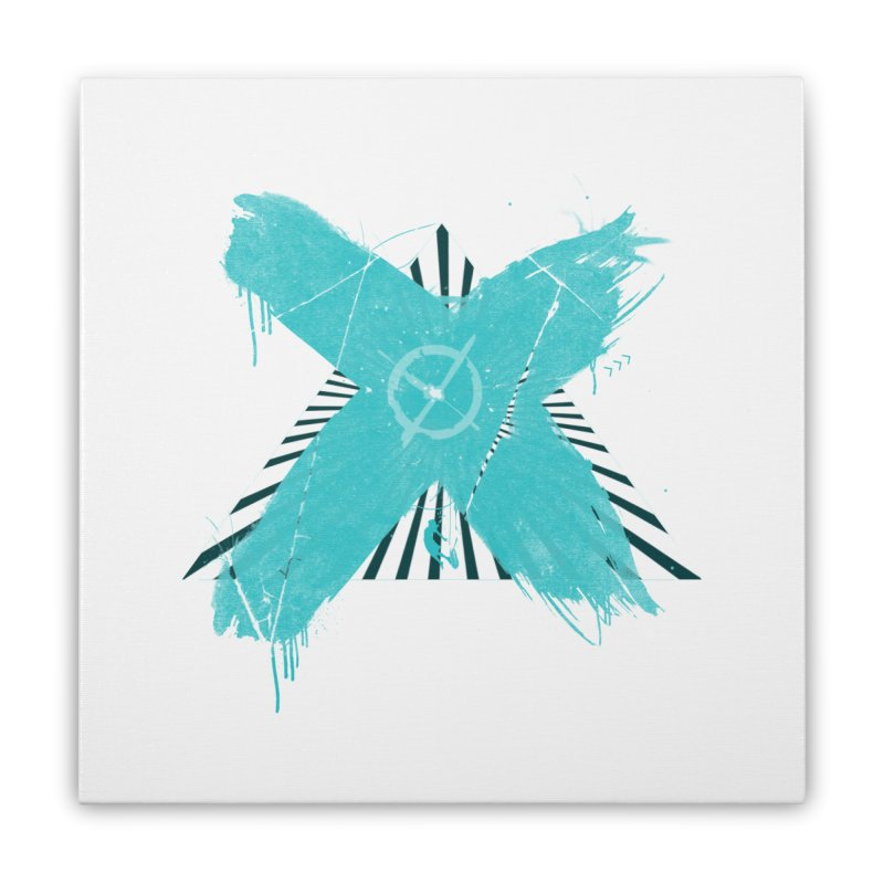 X marks the spot Home Stretched Canvas by nvil's Artist Shop