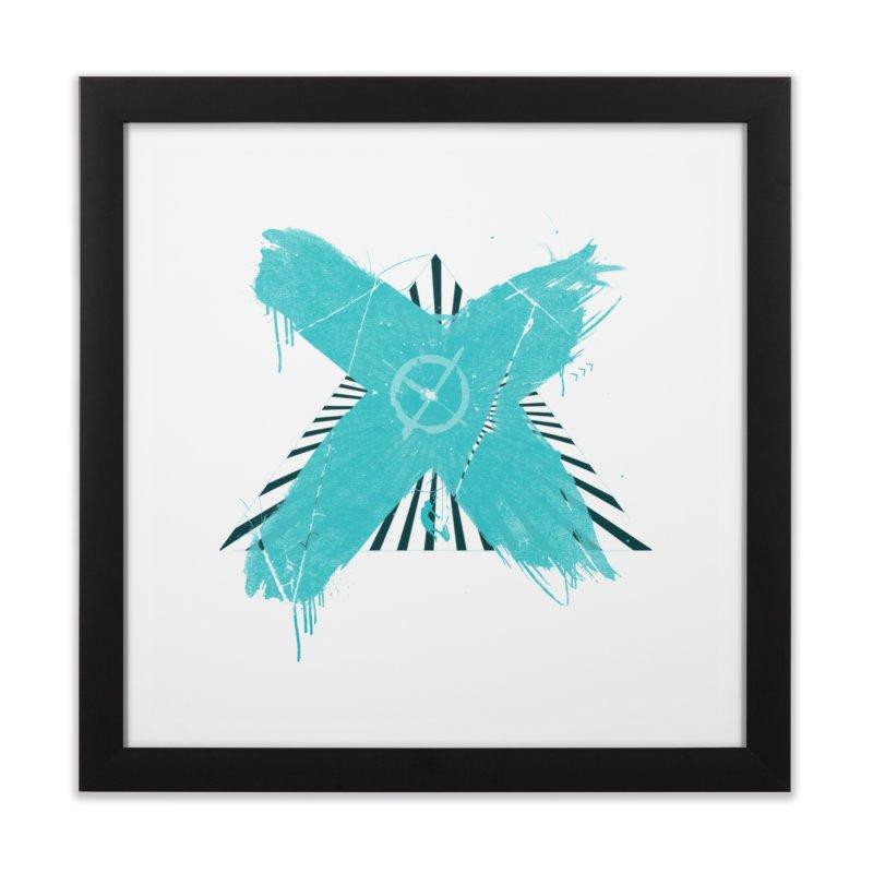 X marks the spot Home Framed Fine Art Print by nvil's Artist Shop