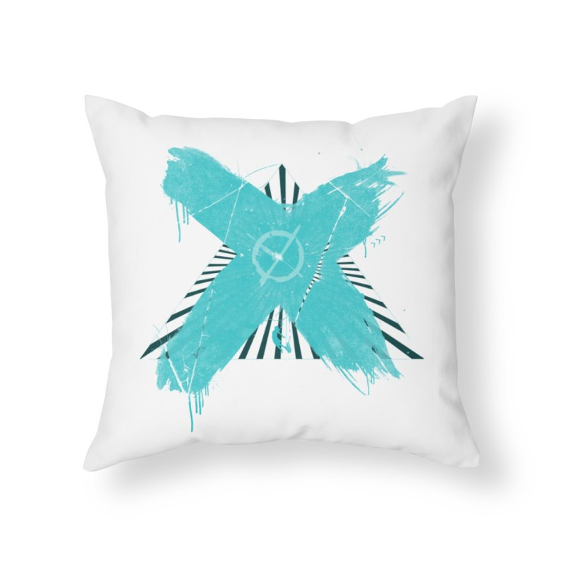 X marks the spot Home Throw Pillow by nvil's Artist Shop