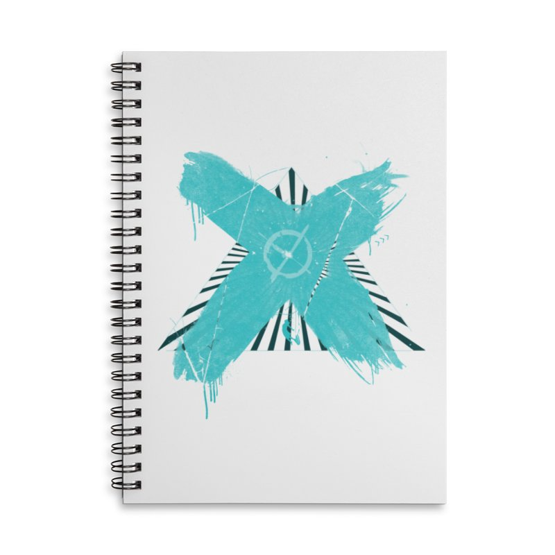 X marks the spot Accessories Lined Spiral Notebook by nvil's Artist Shop
