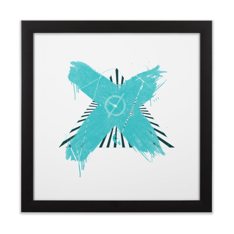 X marks the spot Home Framed Fine Art Print by nvil's Artist Shop