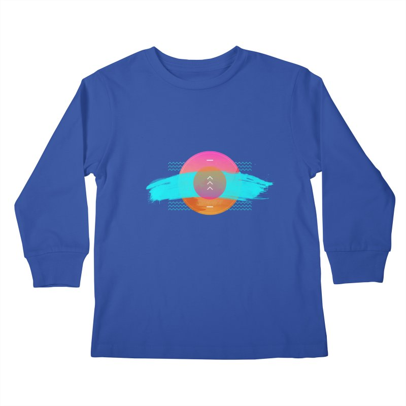 Summer 1979 Kids Longsleeve T-Shirt by nvil's Artist Shop