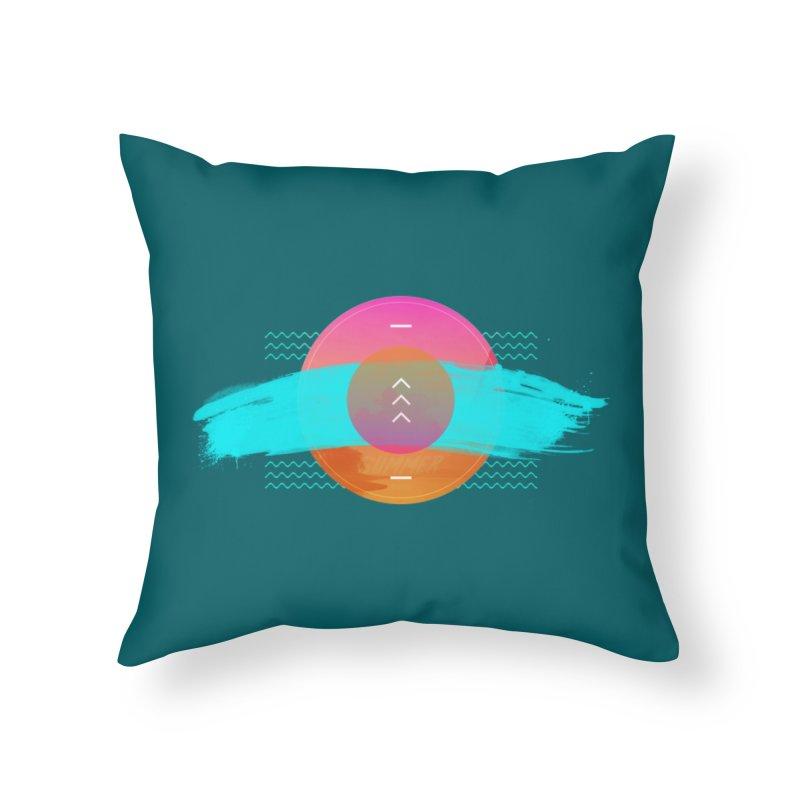 Summer 1979 Home Throw Pillow by nvil's Artist Shop